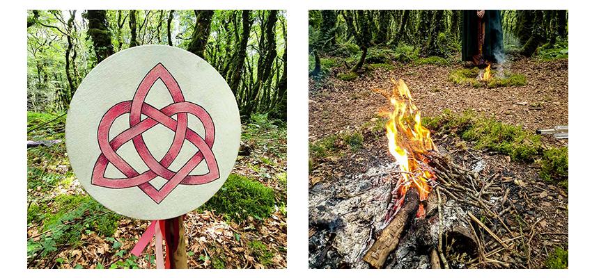 on voit le symboel d'Aliya et les deux feux de bel pour la fête d'incarnation